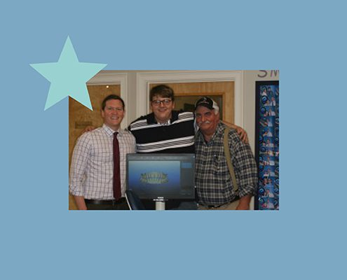 Sam is a participant in BRO's Blue Star Program
