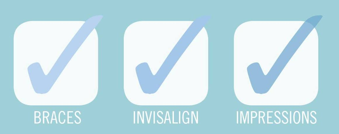 braces and invisalign and impressions check boxes