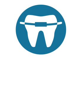 tooth icon with single brace