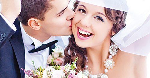 Woman got teeth whitened before her wedding