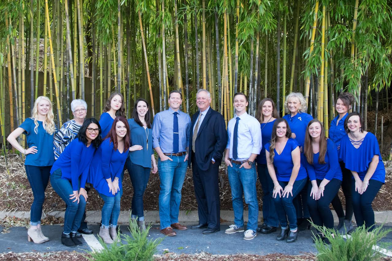 Blue Ridge Orthodontics take a staff picture in Hendersonville