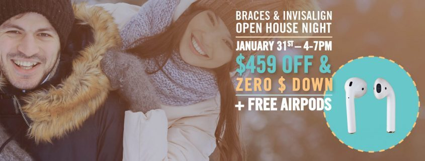 Advertisement for an orthodontist event in Western North Carolina