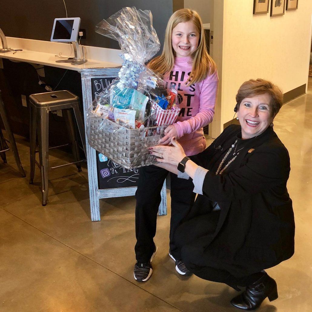 Girl in Hendersonville who won Movie Night Contest from Blue Ridge Orthodontics