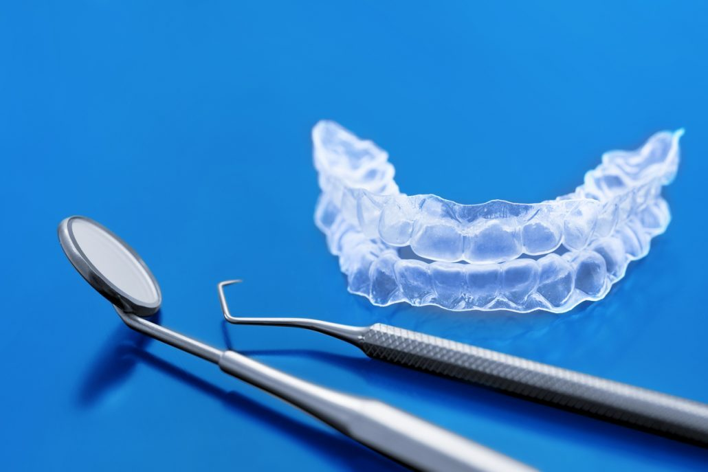 Orthodontic retainer used after braces in North Carolina
