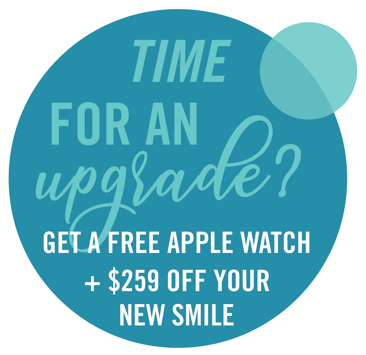 Advertisement for a free apple watch in Asheville