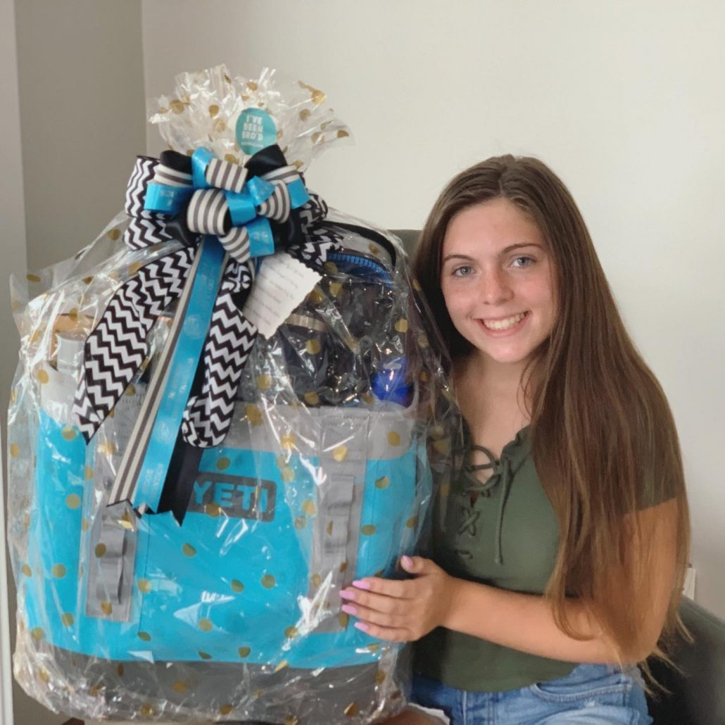 Young teen wins Yeti gift basket in Asheville, NC