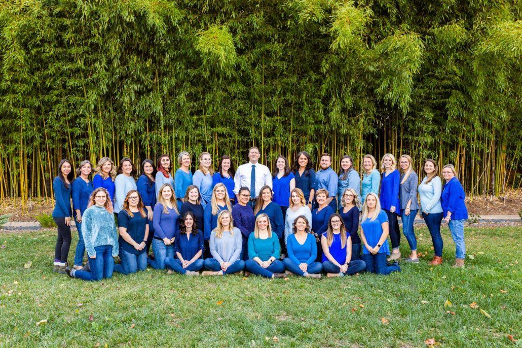 Blue Ridge Orthodontics take a staff picture in Asheville