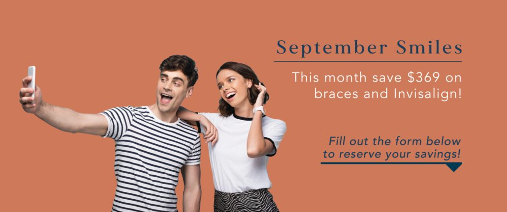$369 off braces and Invisalign during September at Blue Ridge Orthodontics